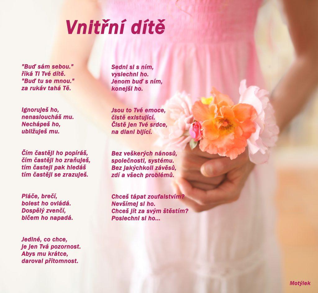 Motivační plakát Vnitřní dítě - umělecká báseň od Motýlek - Nuataa Sonáya