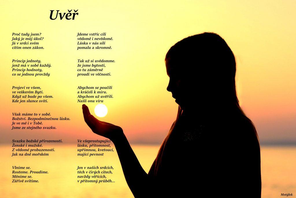 Motivační plakát Uvěř - umělecká báseň od Motýlek - Nuataa Sonáya
